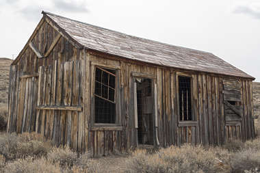USA Bodie ghosttown ghost town old western goldrush desert arid building shed barn