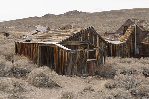 USA Bodie ghosttown ghost town old western goldrush desert arid building barn