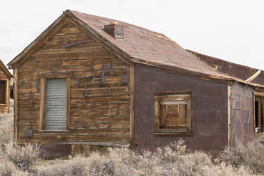 USA Bodie ghosttown ghost town old western goldrush desert arid wooden building house