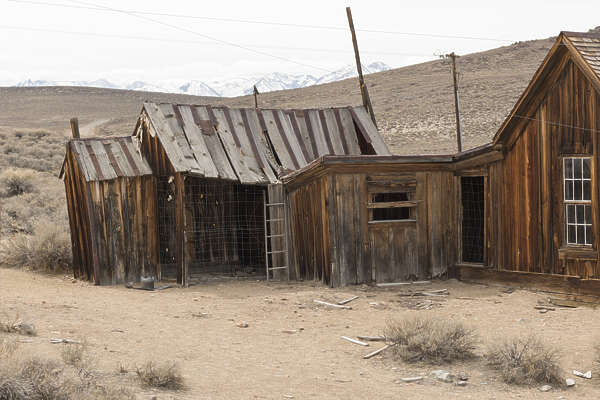 USA Bodie ghosttown ghost town old western goldrush desert arid building