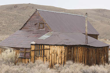 USA Bodie ghosttown ghost town old western goldrush desert arid building wooden house