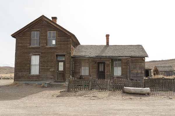 USA Bodie ghosttown ghost town old western goldrush desert arid building wooden landscape panorama