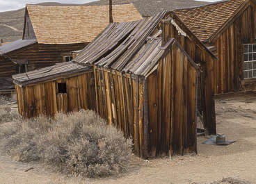 USA Bodie ghosttown ghost town old western goldrush desert arid building wooden shed