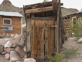 USA nelson ghost town ghosttown toilet shed wooden
