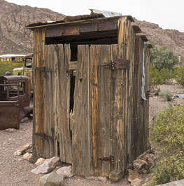 USA nelson ghost town ghosttown wooden shed toilet