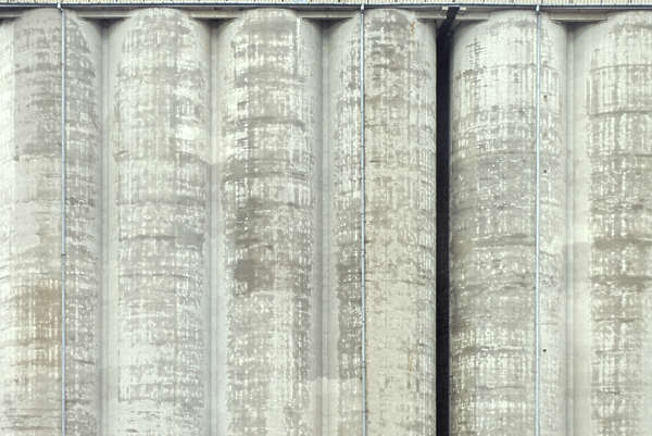 concrete bare silo building