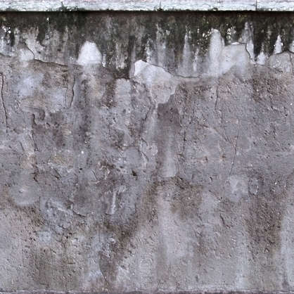 concrete bare leaking dirty old plaster