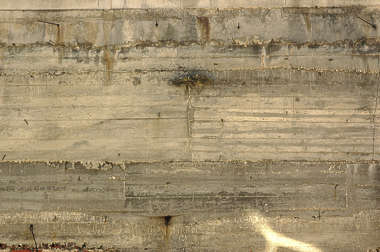 concrete bunker wall bare