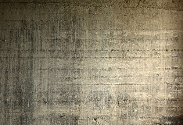 concrete bunker wall dirty