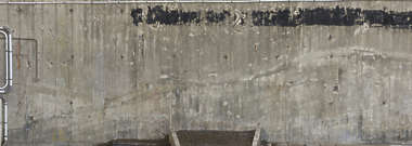 concrete bunker bare paint dirty old