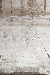 concrete bunker bare crack cracked