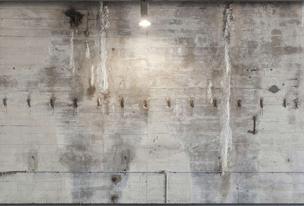 concrete bunker bare light lamp spotlight dirty old