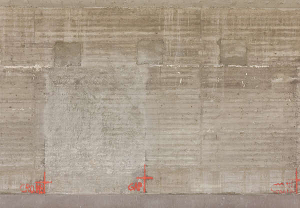 concrete bare bunker wall