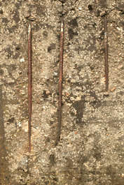 concrete rebar damaged bunker damage