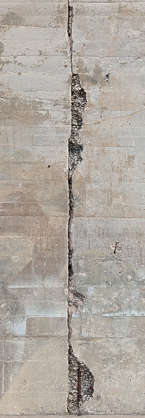 concrete bunker damaged damage crack