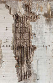concrete bunker damaged damage rebar