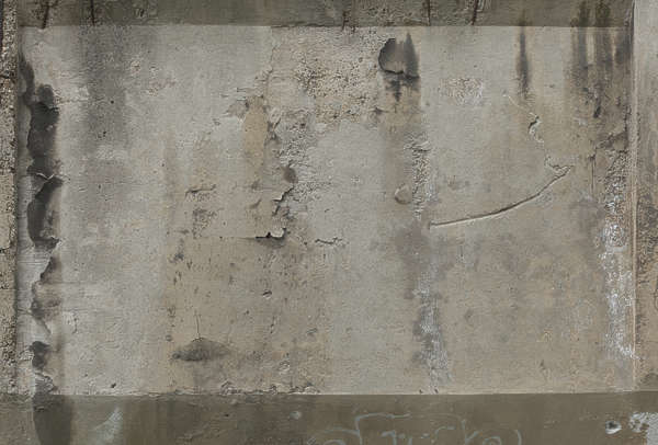 concrete bare leaking old damage weathered
