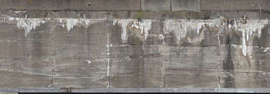 concrete bunker wall leaking dirty