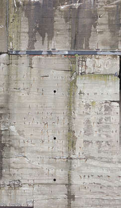 Bunker wall WWII concrete dirty leaking
