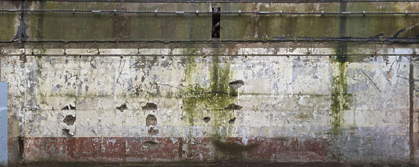 concrete bunker paint painted dirty old worn damaged moss