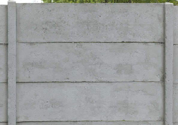 concrete bare new slabs fence