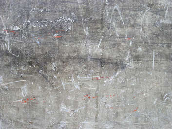 concrete bare scratches