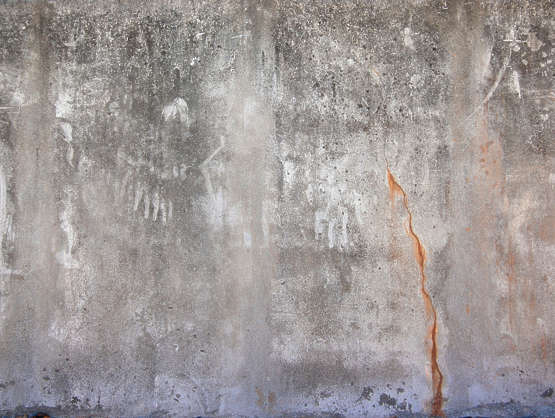 concrete bare dirty