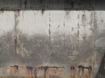 concrete bare dirty leaking rust old