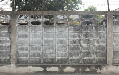 thailand bangkok asia asian concrete dirty leaking fence old dirty