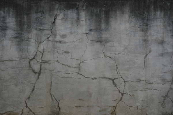 concrete dirty cracks