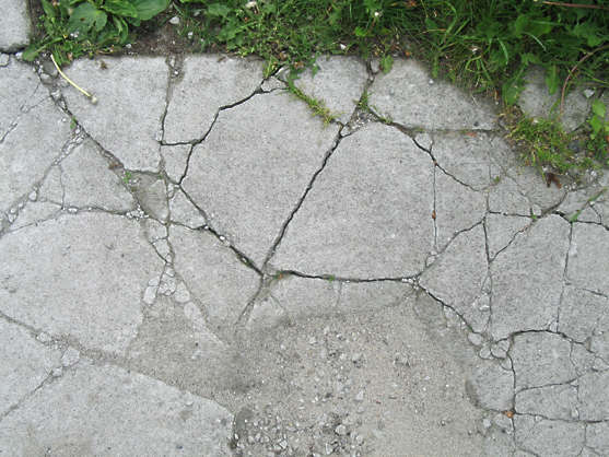concrete floor cracks cracked damaged