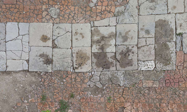 tiles floor cracked old spain