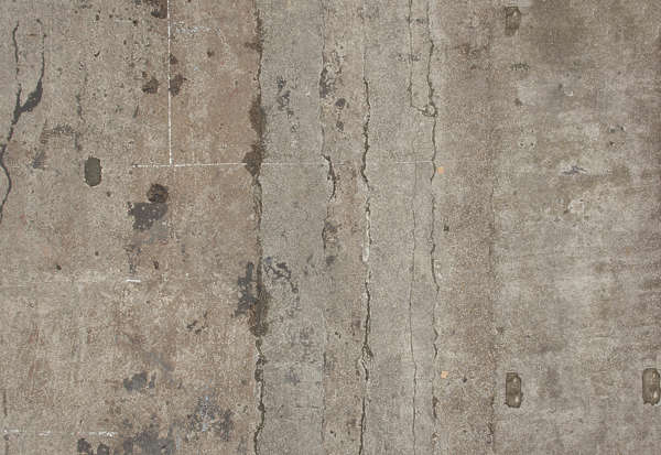 concrete floor old shipyard cracks