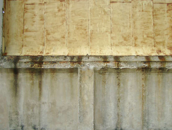 concrete leaking wall
