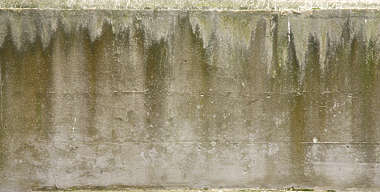 concrete leaking gradient