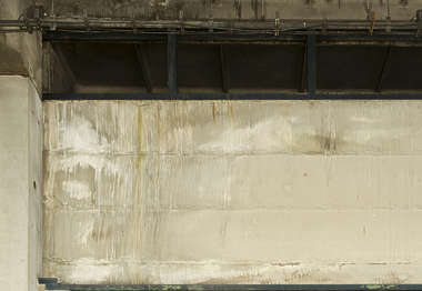 concrete slabs leaking grunge dirty