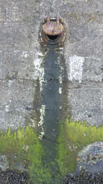 concrete leaking sewage mossy sewer UK
