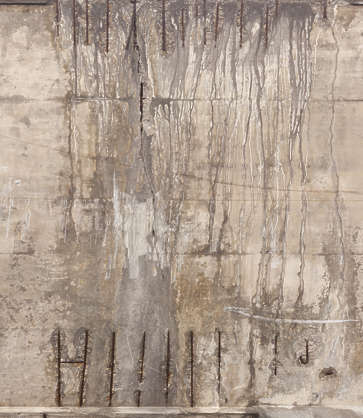 concrete damaged leaking spain
