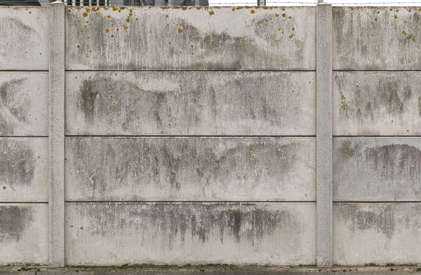 concrete plates fence wall bare