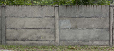 concrete bare old wall fence