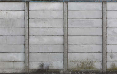 concrete fence wall plates