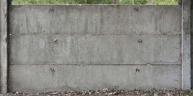 concrete dirty fence plates