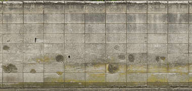 concrete bricks japan dirty mossy old