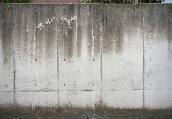 concrete wall bare dirty