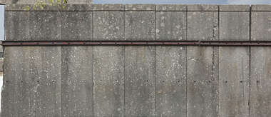 concrete slabs blocks wall reinforced