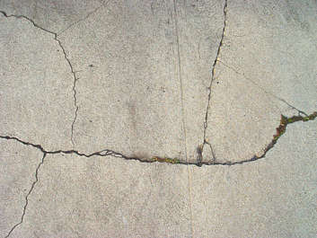 concrete cracked crack damaged