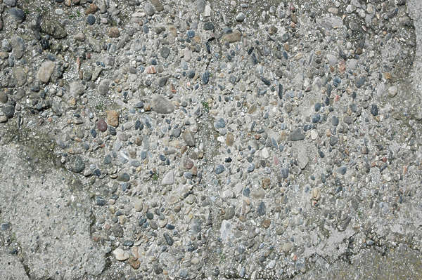 concrete bare pebbles rough