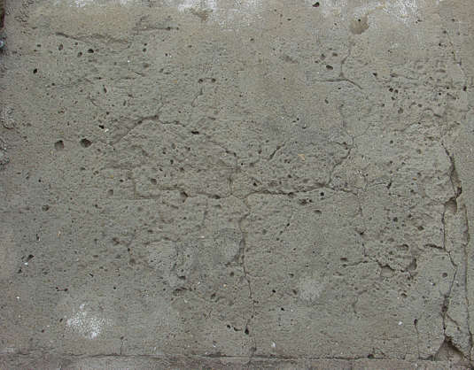 concrete rough bare