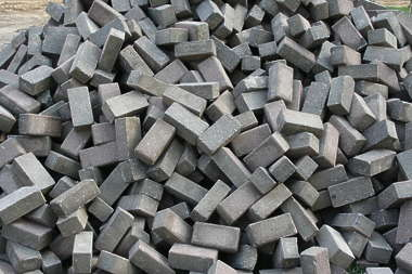 pile bricks heap