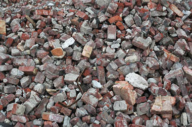 rubble bricks brick heap scrap